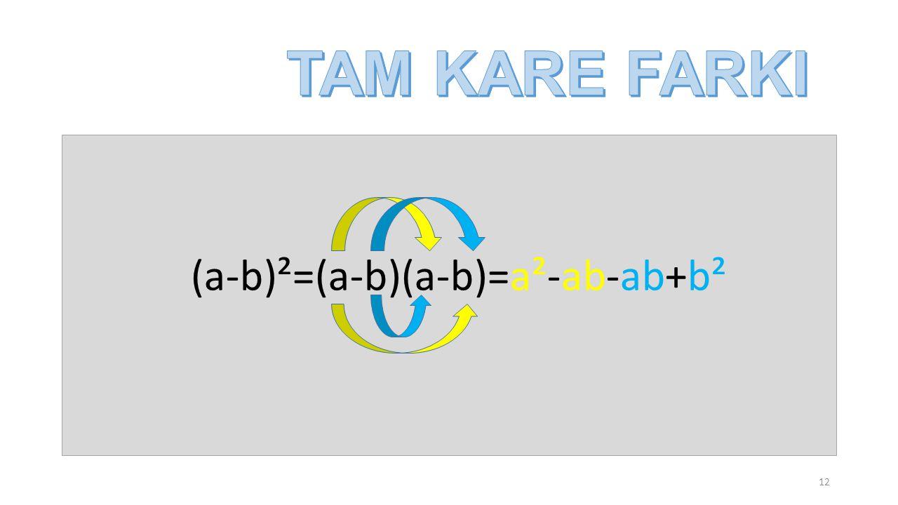 (a-b)²=(a-b)(a-b)=a²-ab-ab+b²