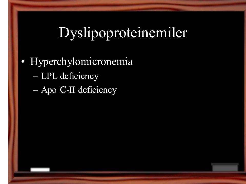 Dyslipoproteinemiler