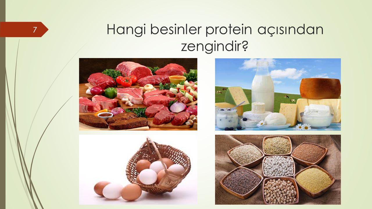 Hangi besinler protein açısından zengindir