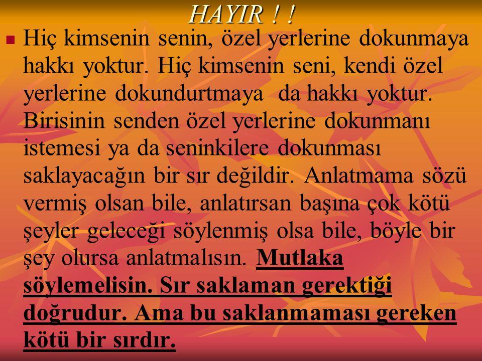 HAYIR ! !
