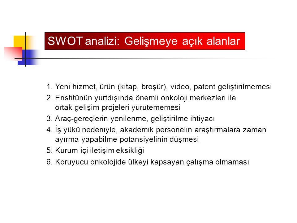 SWOT analizi: Gelişmeye açık alanlar
