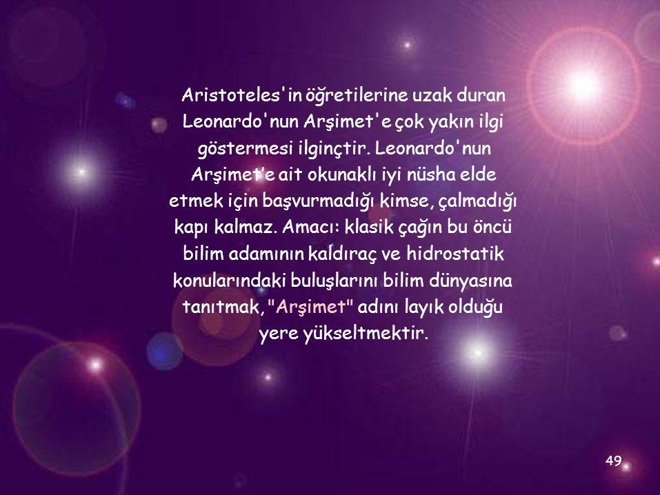 Aristoteles in öğretilerine uzak duran