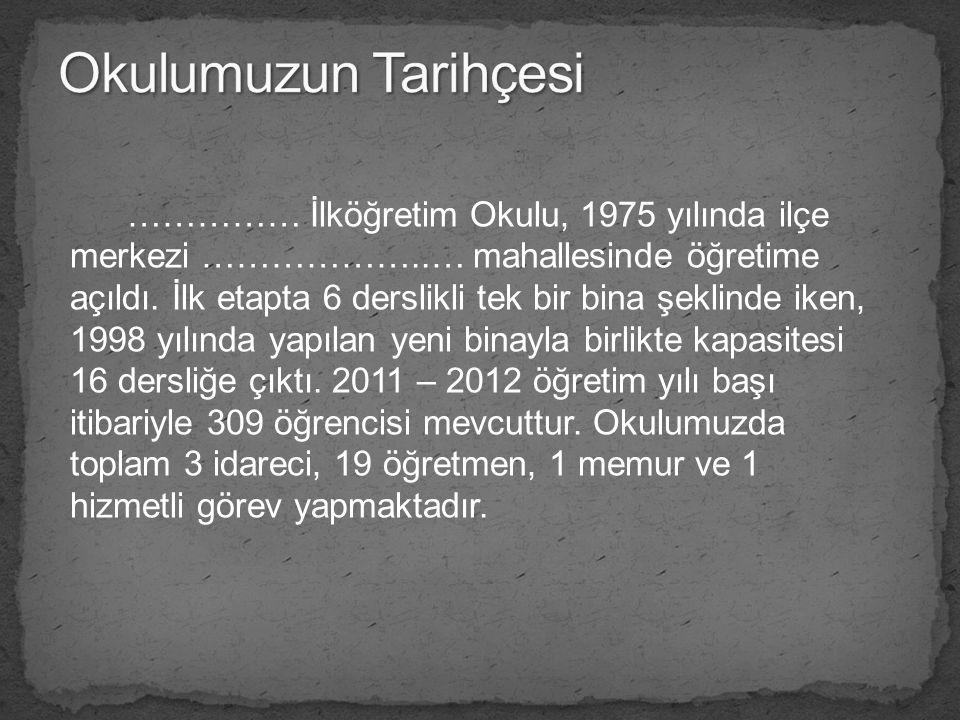 Okulumuzun Tarihçesi