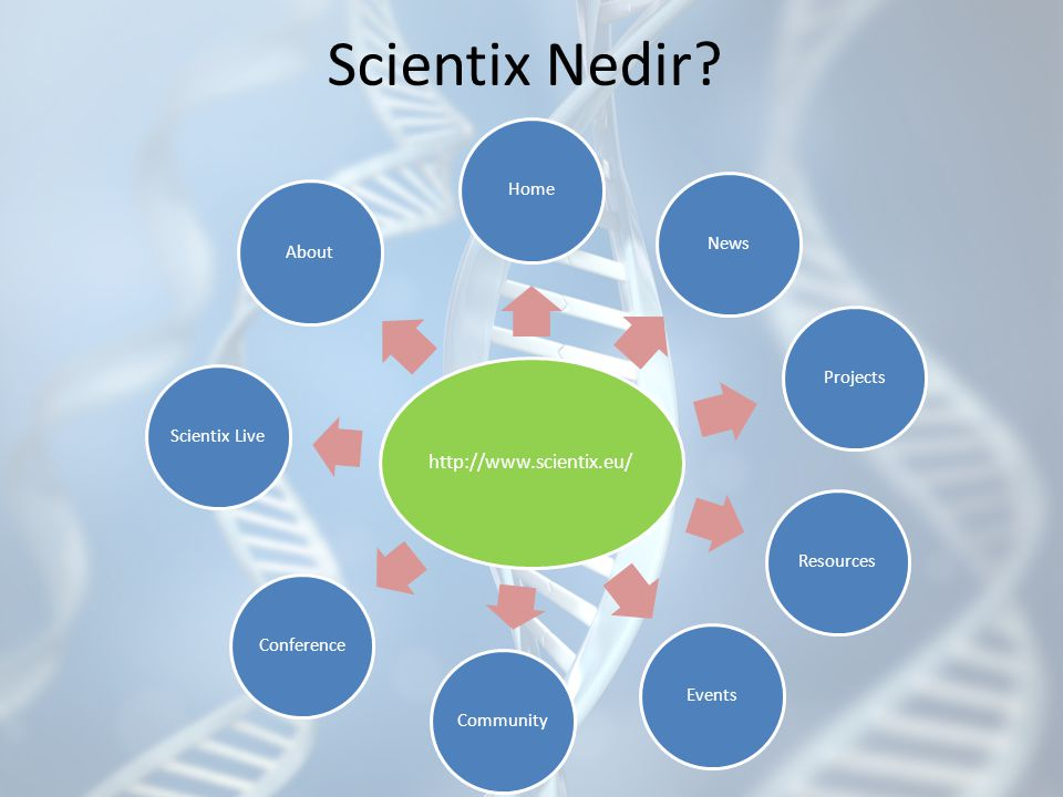 Scientix Nedir http://www.scientix.eu/ Home News Projects Resources