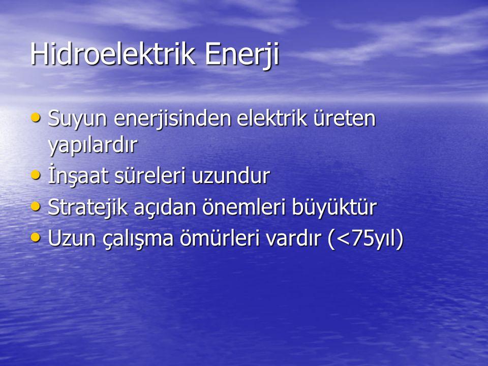 Hidroelektrik Enerji Suyun enerjisinden elektrik üreten yapılardır