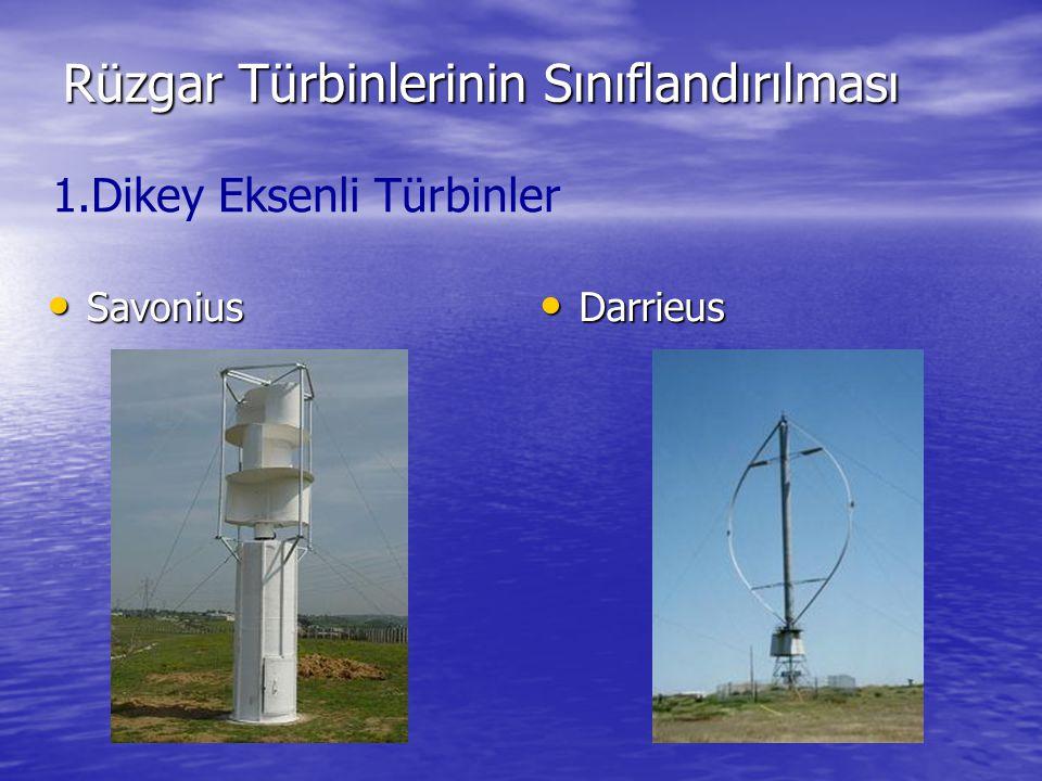 Rüzgar Türbinlerinin Sınıflandırılması