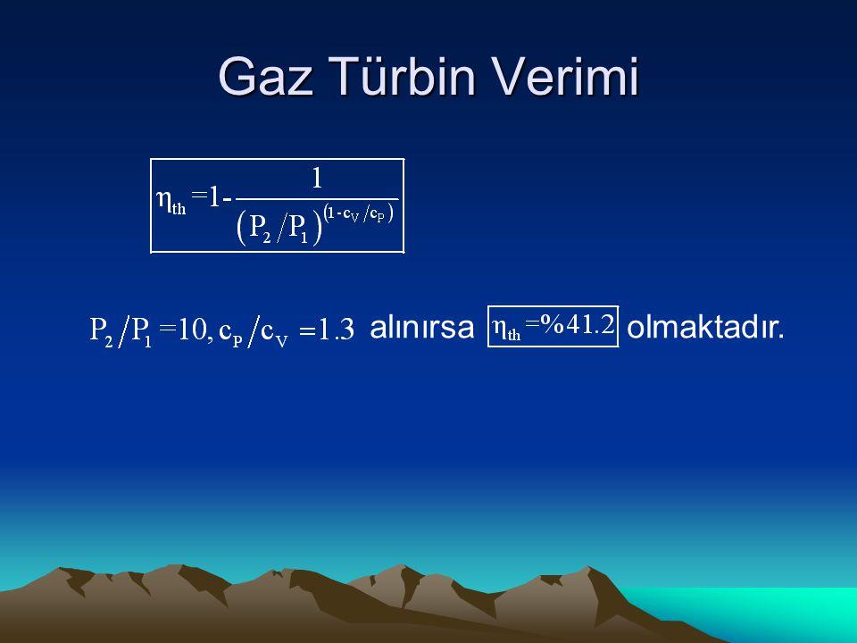 Gaz Türbin Verimi alınırsa olmaktadır.