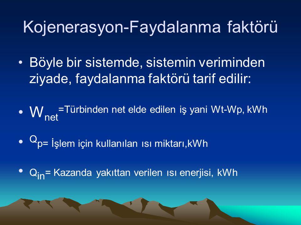 Kojenerasyon-Faydalanma faktörü