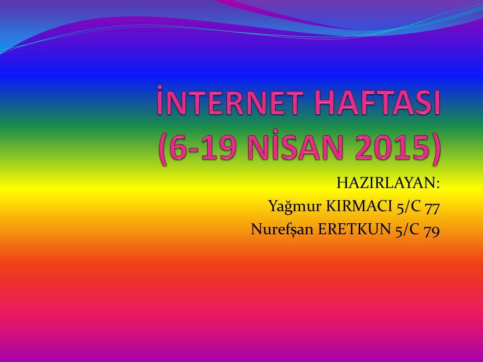 İNTERNET HAFTASI (6-19 NİSAN 2015)