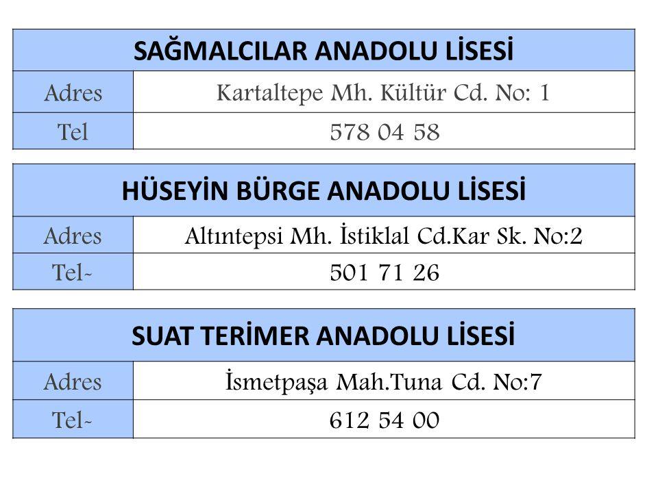 SAĞMALCILAR ANADOLU LİSESİ
