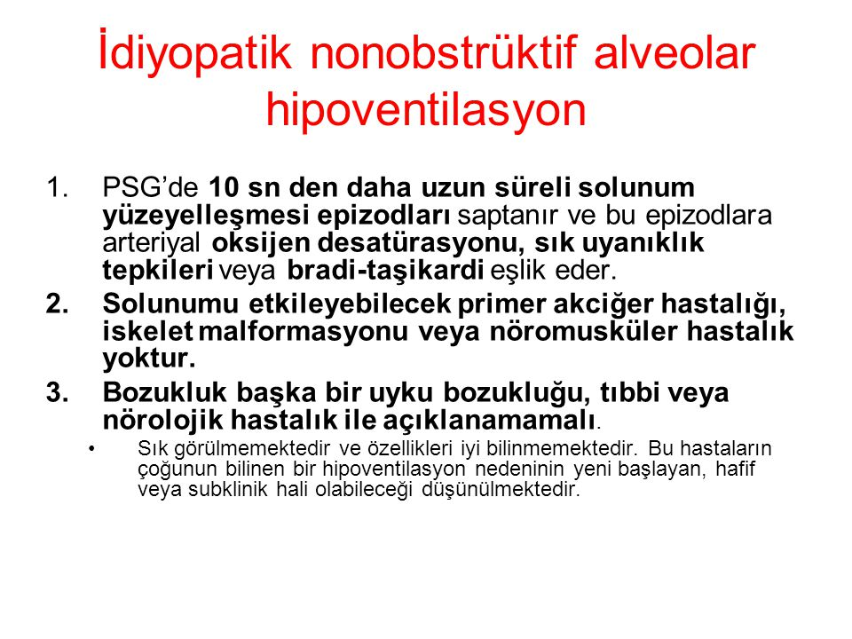 İdiyopatik nonobstrüktif alveolar hipoventilasyon