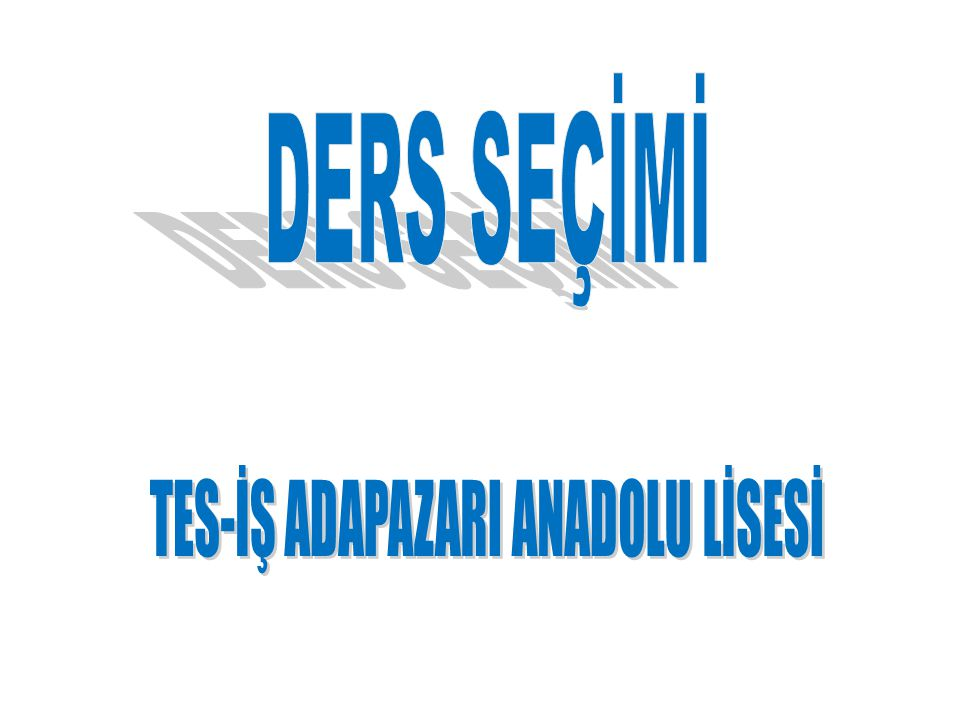 TES-İŞ ADAPAZARI ANADOLU LİSESİ