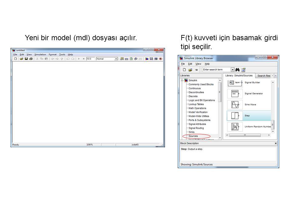 Yeni bir model (mdl) dosyası açılır.
