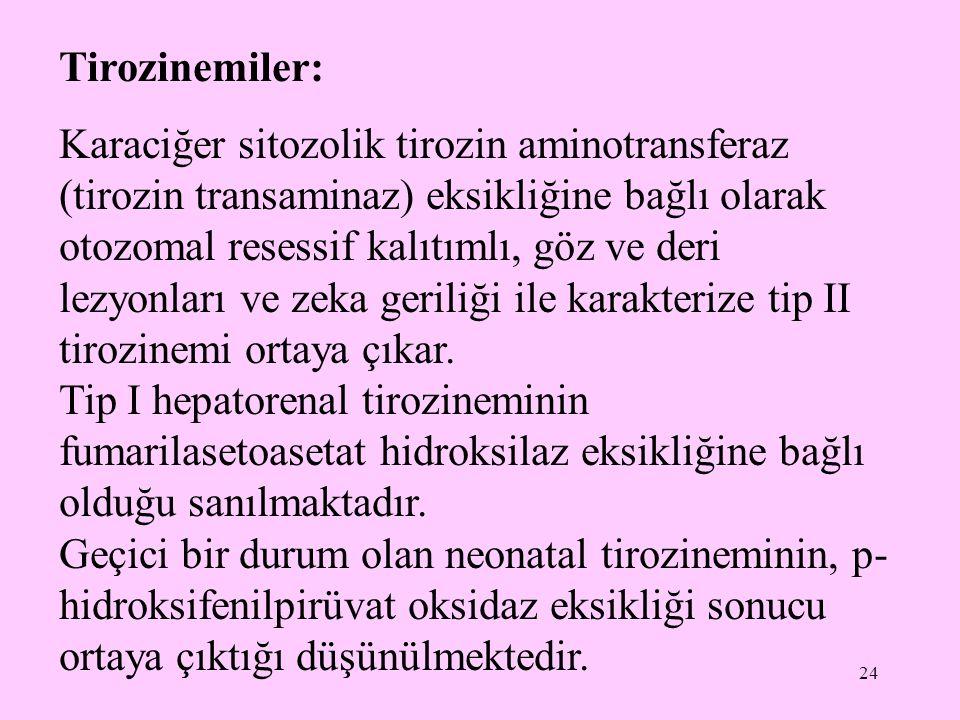 Tirozinemiler: