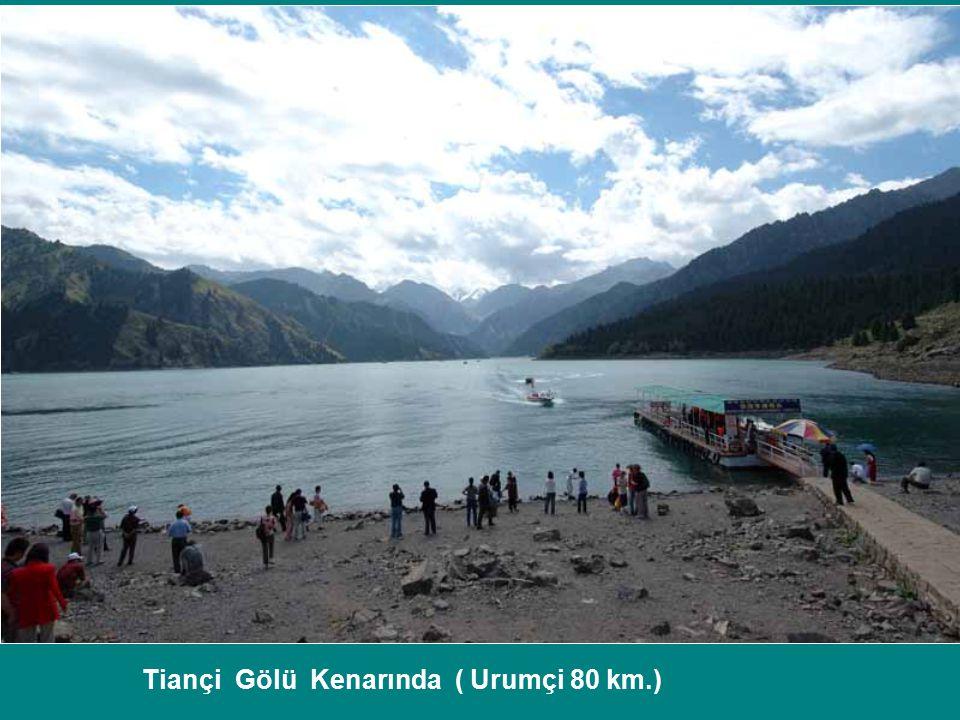 Tiançi Gölü Kenarında ( Urumçi 80 km.)