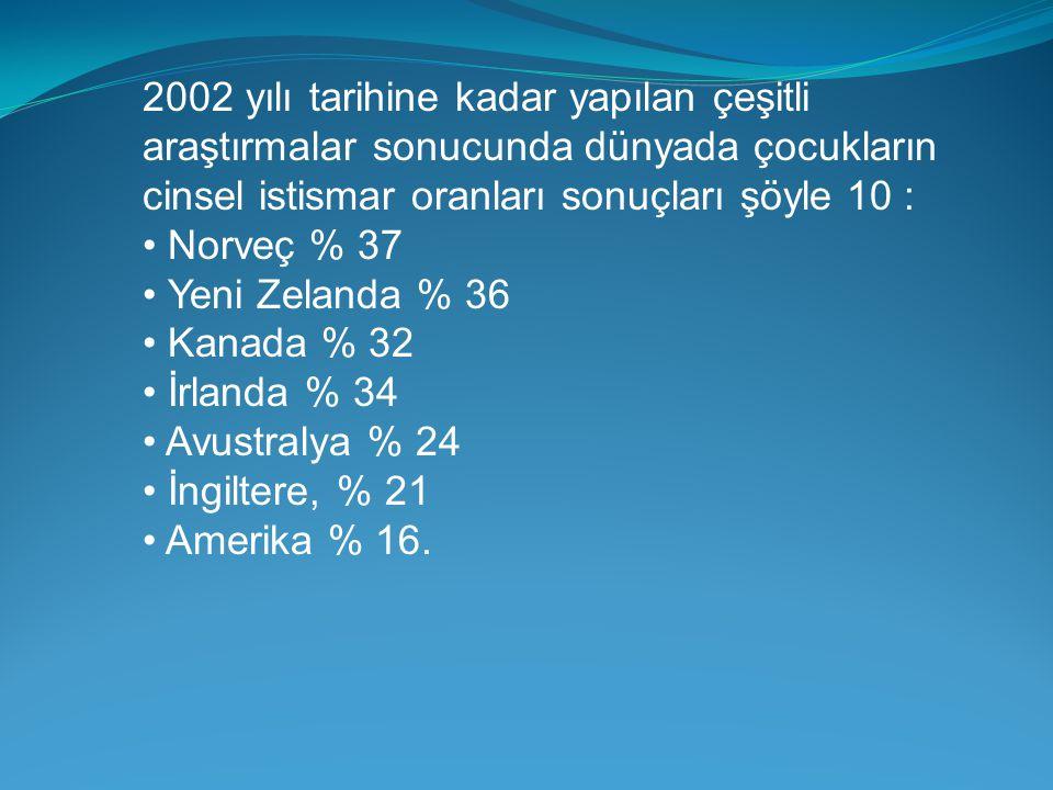 2002 yılı tarihine kadar yapılan çeşitli