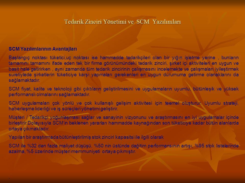 Tedarik Zinciri Yönetimi ve SCM Yazılımları