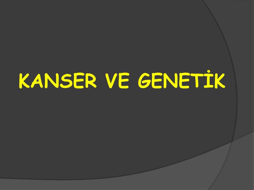 KANSER VE GENETİK