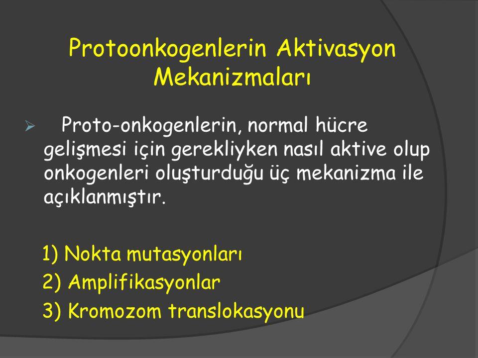Protoonkogenlerin Aktivasyon Mekanizmaları