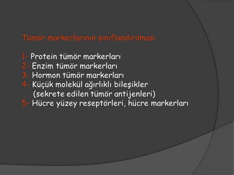 Tümör markerlarının sınıflandırılması