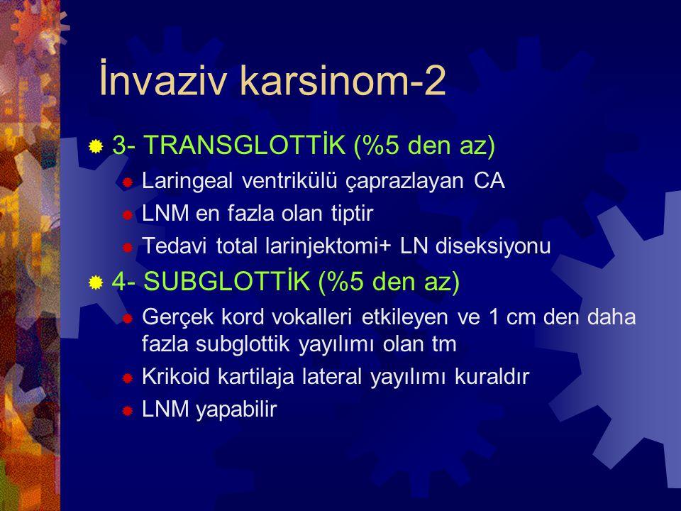 İnvaziv karsinom-2 3- TRANSGLOTTİK (%5 den az)