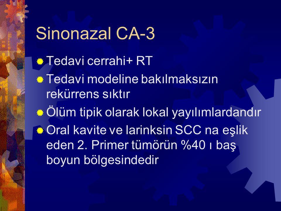 Sinonazal CA-3 Tedavi cerrahi+ RT
