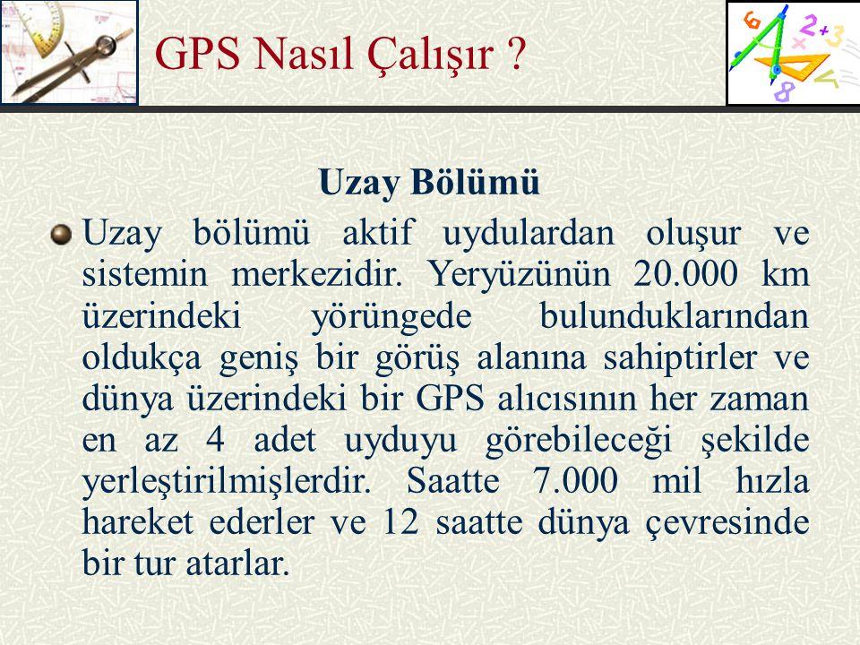 GPS Nasıl Çalışır Uzay Bölümü