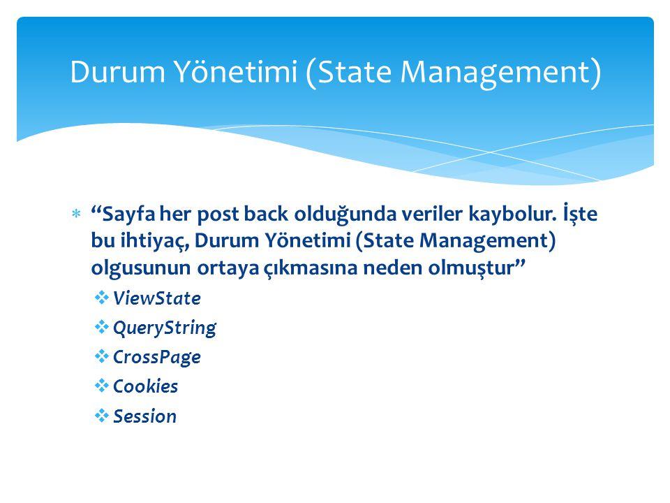 Durum Yönetimi (State Management)