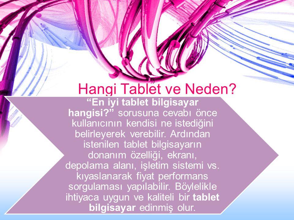 Hangi Tablet ve Neden