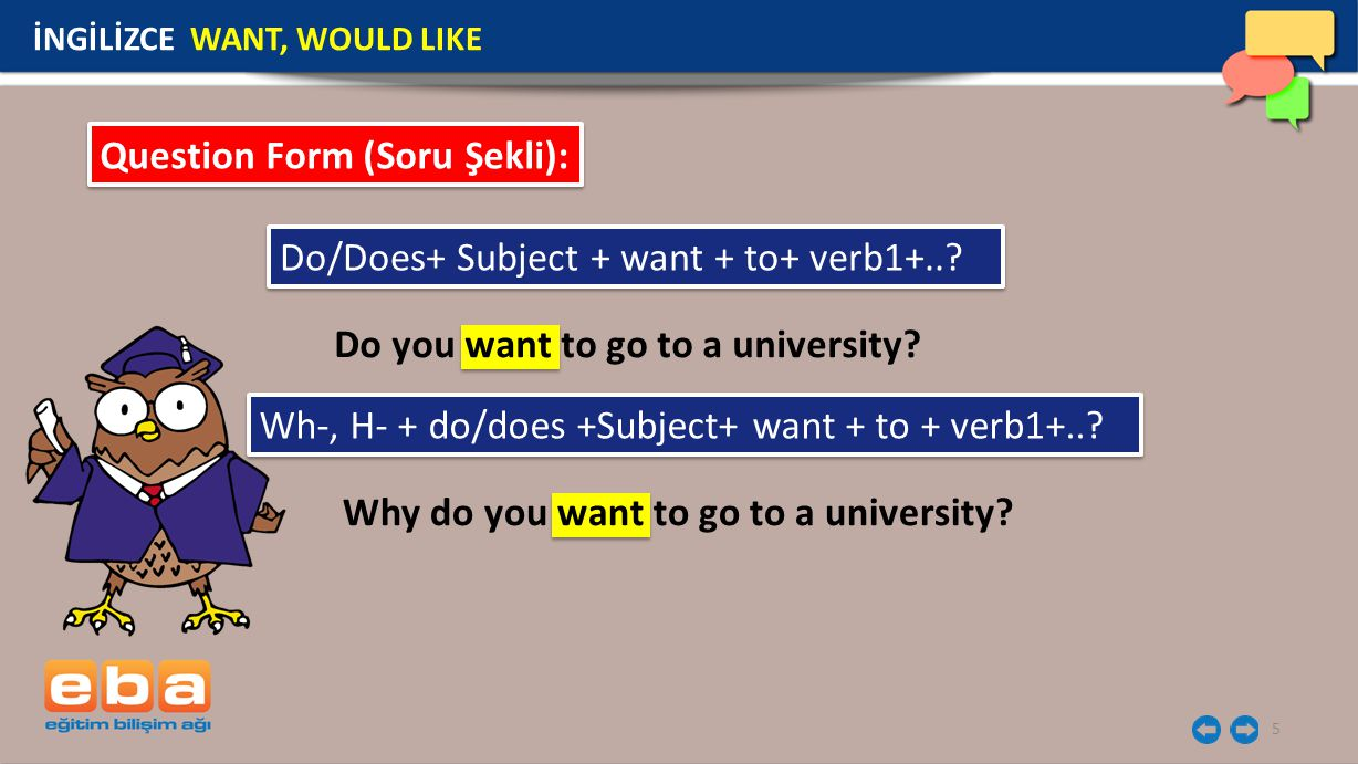Question Form (Soru Şekli):