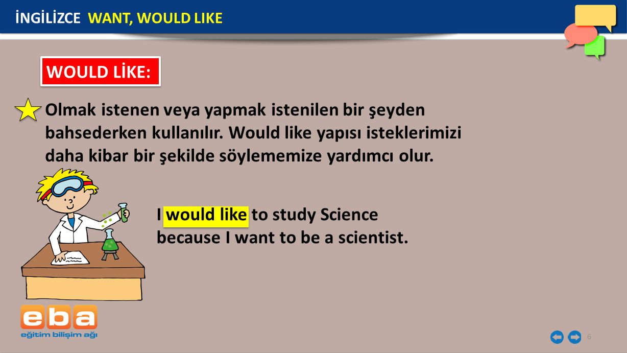 I would like to study Science because I want to be a scientist.
