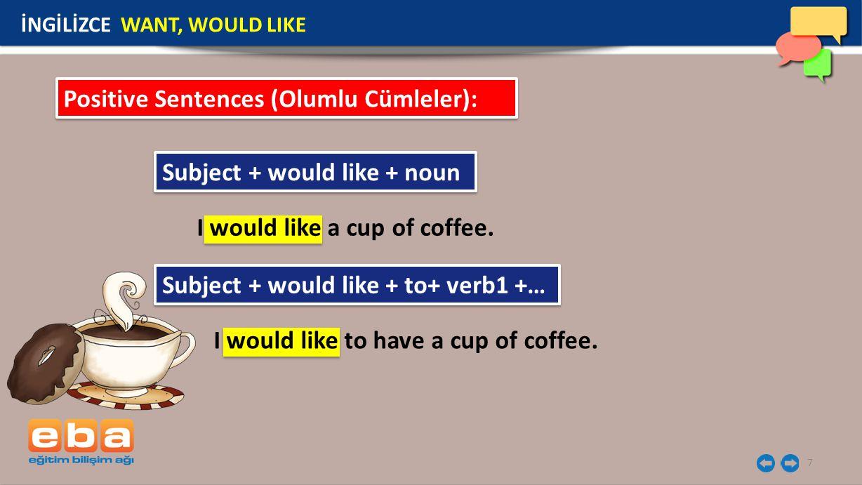 Positive Sentences (Olumlu Cümleler):