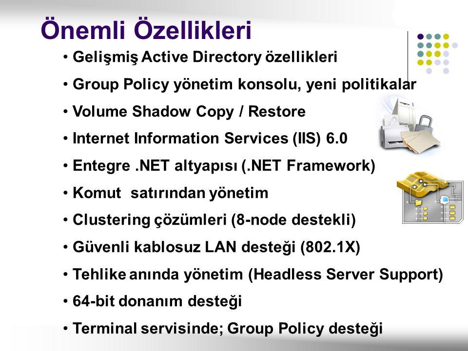 Önemli Özellikleri Gelişmiş Active Directory özellikleri