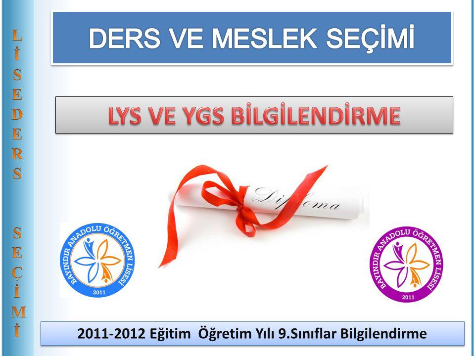 LYS VE YGS BİLGİLENDİRME