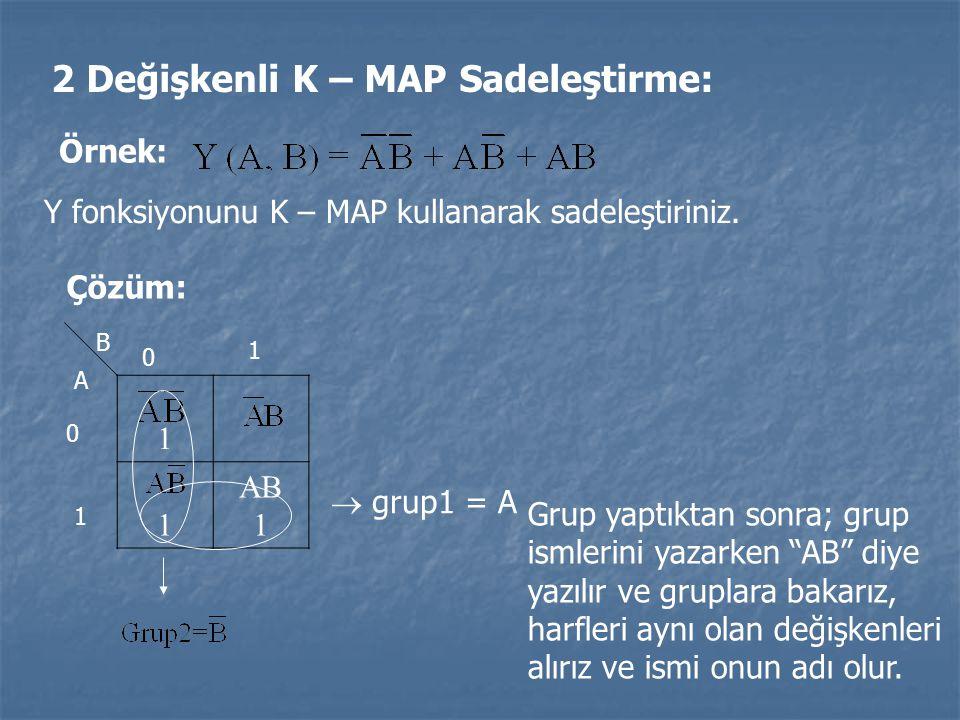 2 Değişkenli K – MAP Sadeleştirme: