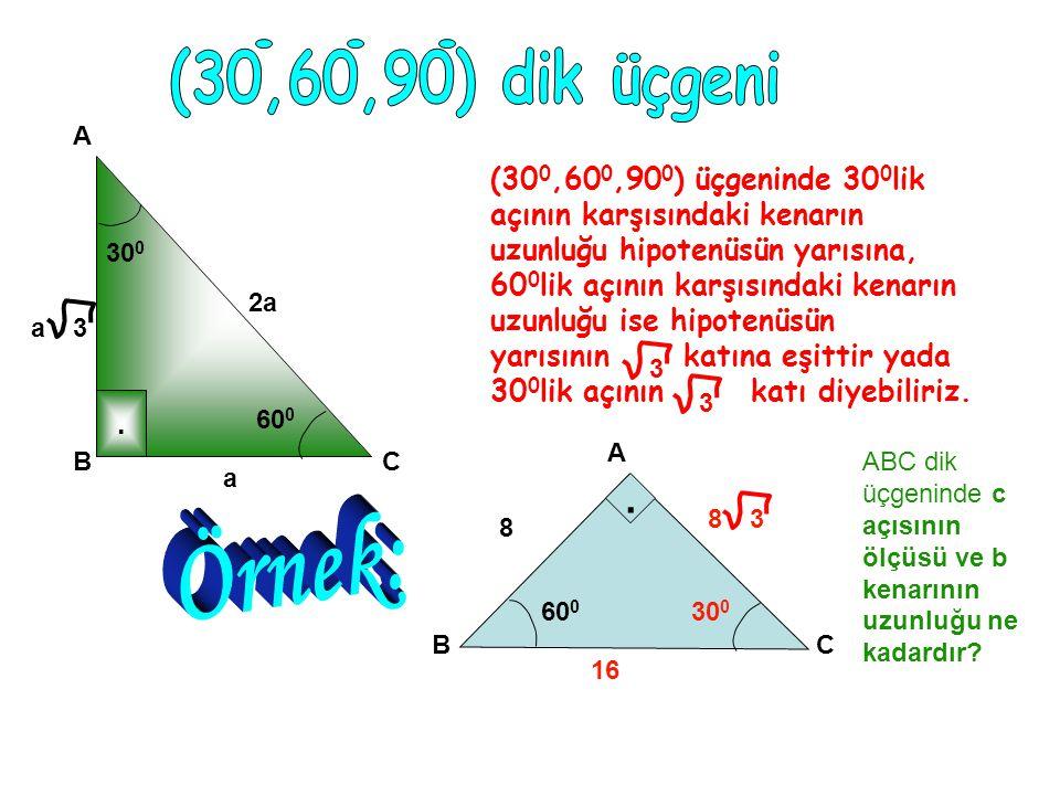(30,60,90) dik üçgeni A.