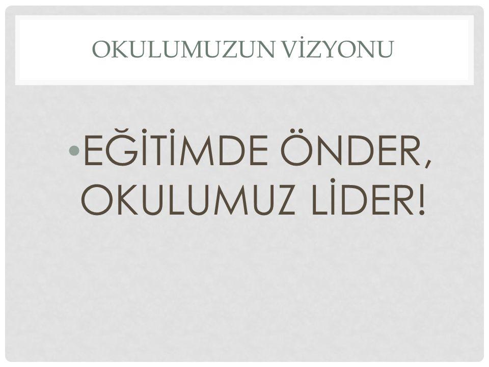 EĞİTİMDE ÖNDER, OKULUMUZ LİDER!