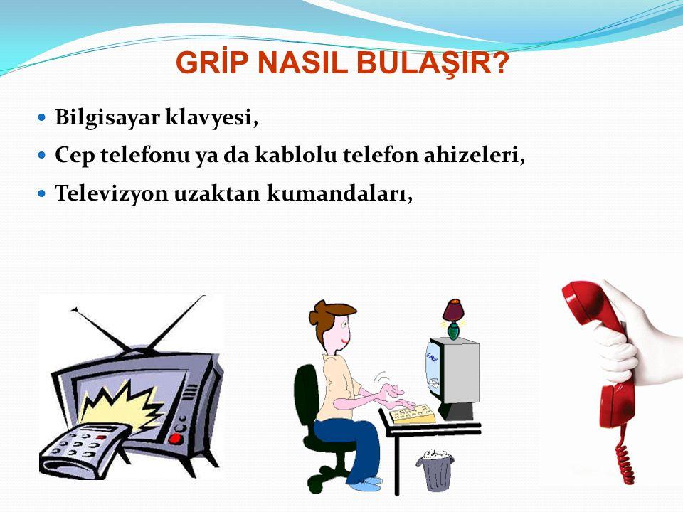 GRİP NASIL BULAŞIR Bilgisayar klavyesi,
