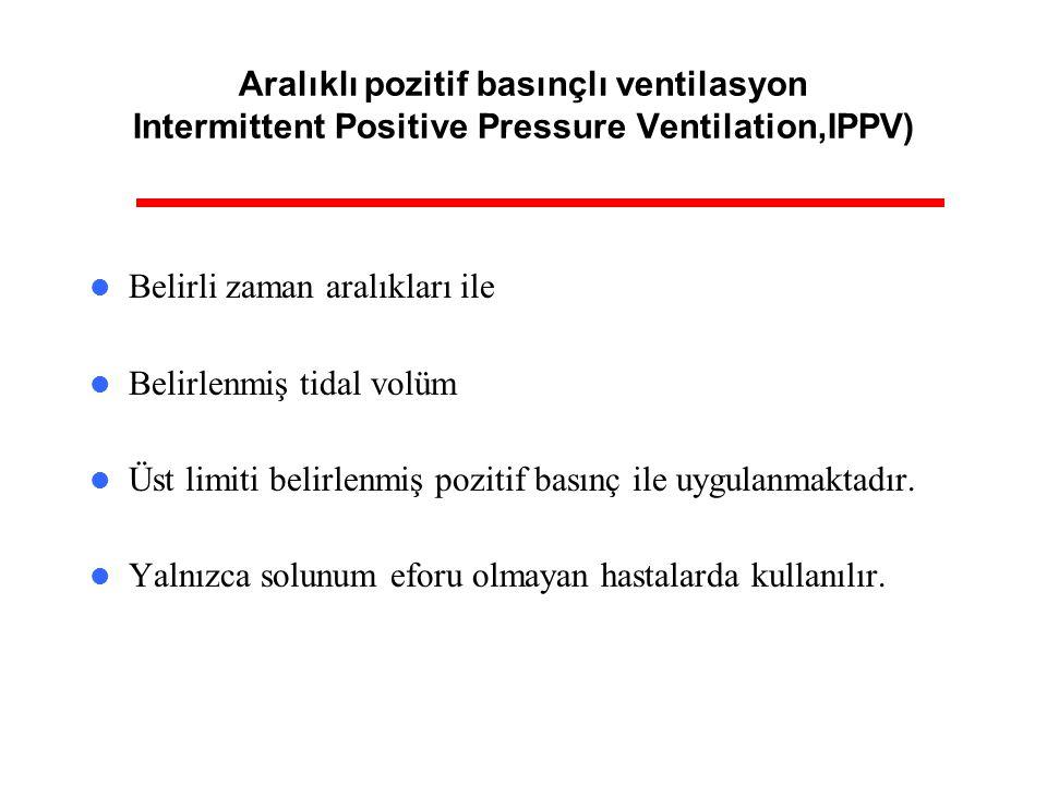 Aralıklı pozitif basınçlı ventilasyon Intermittent Positive Pressure Ventilation,IPPV)