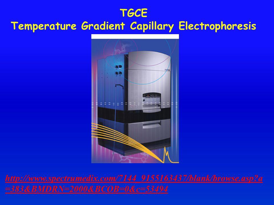 TGCE Temperature Gradient Capillary Electrophoresis
