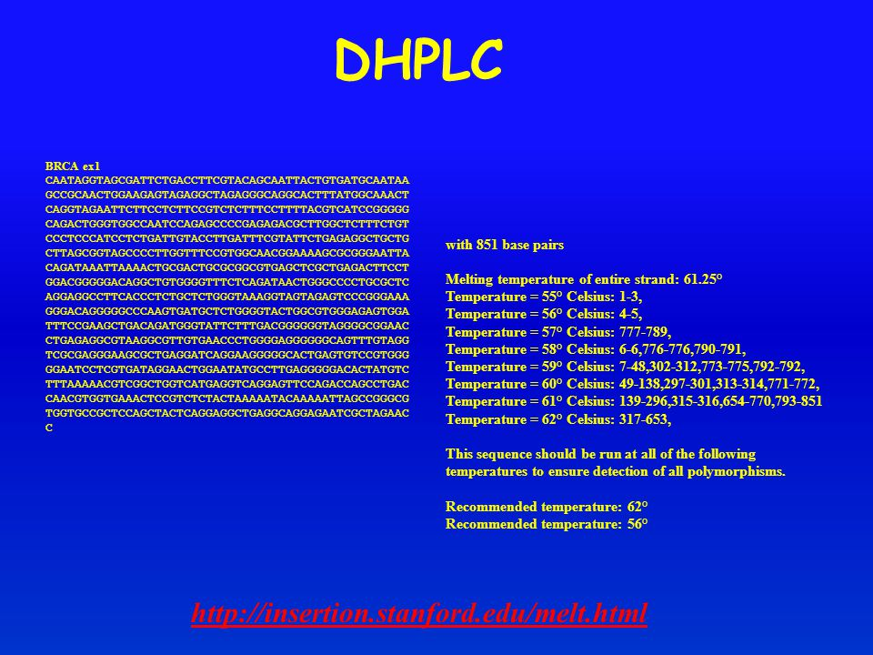 DHPLC http://insertion.stanford.edu/melt.html