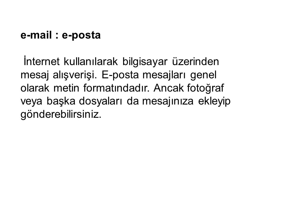 e-mail : e-posta
