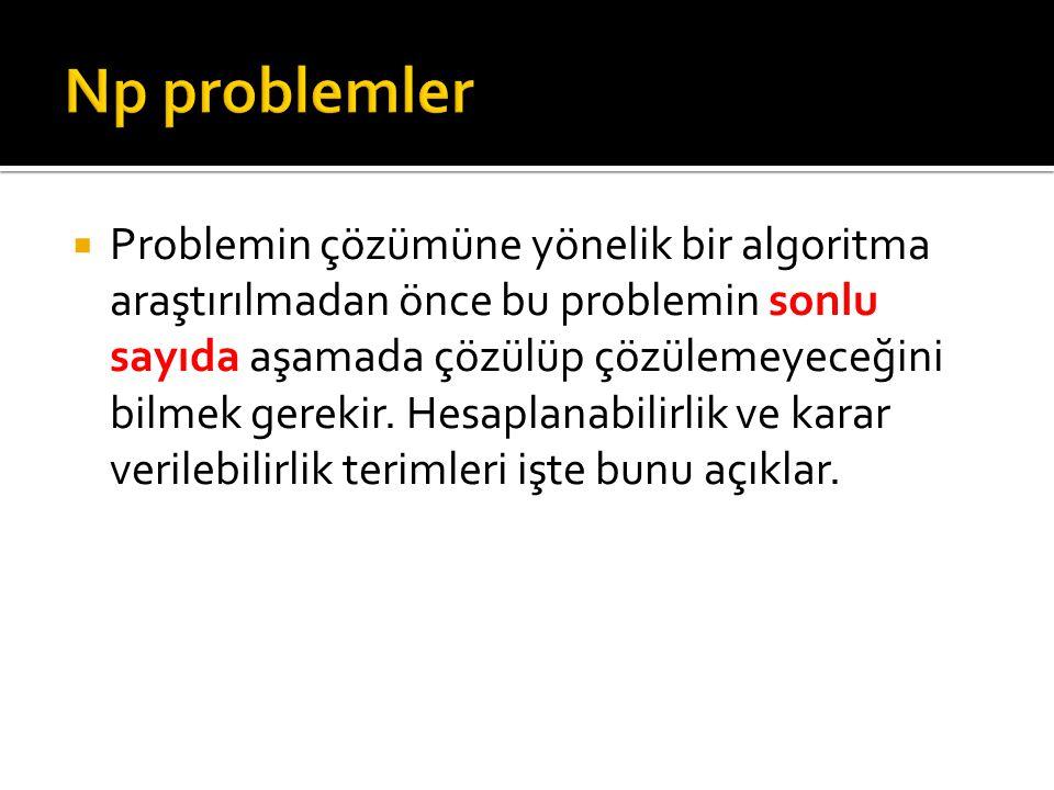 Np problemler