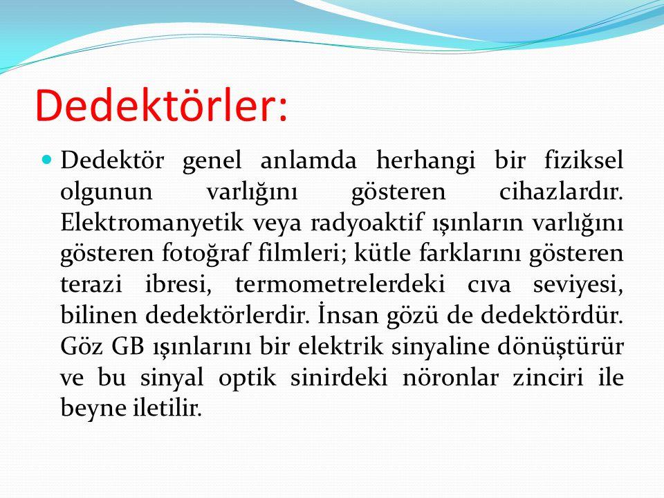 Dedektörler: