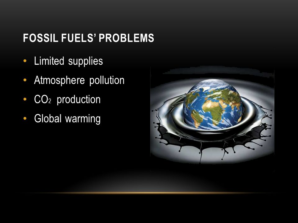 Fossil fuels' Problems