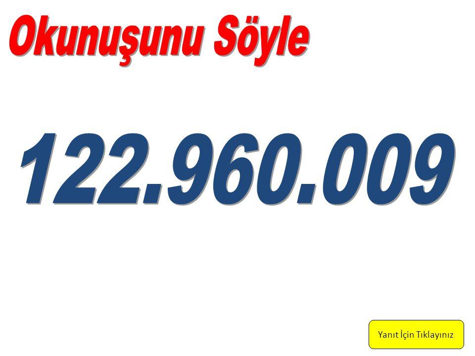 Yüz yirmi iki milyon, dokuz yüz altmış bin, dokuz