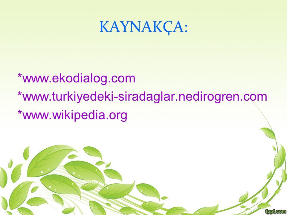 KAYNAKÇA: *www.ekodialog.com