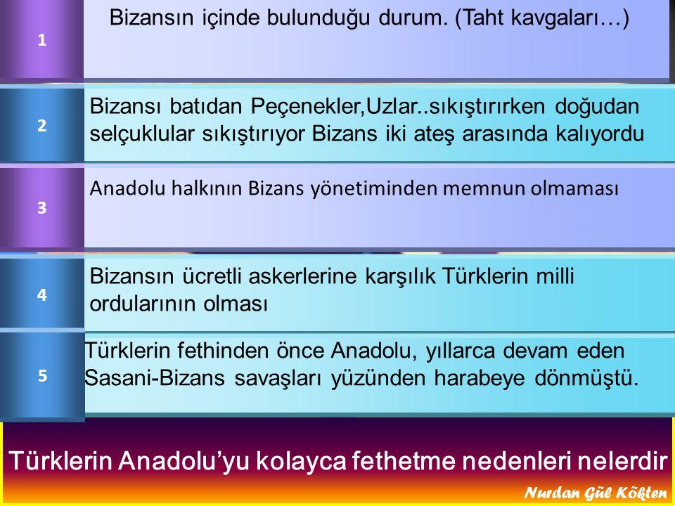 Türklerin Anadolu'yu kolayca fethetme nedenleri nelerdir