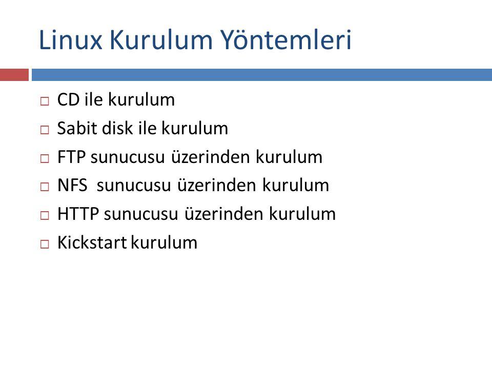 Linux Kurulum Yöntemleri
