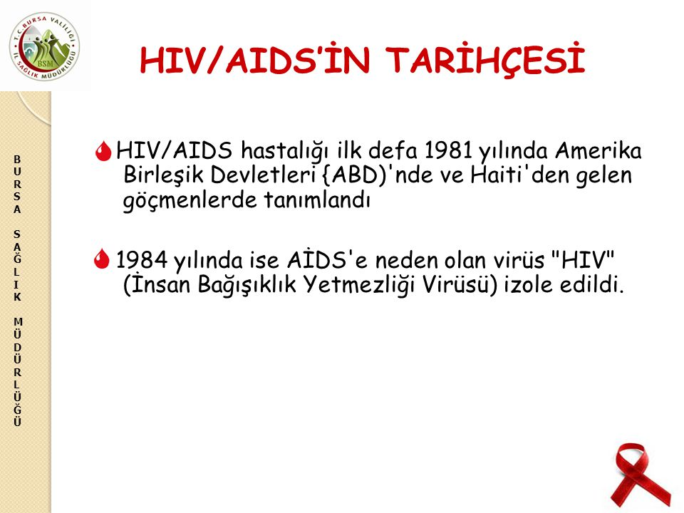 HIV/AIDS'İN TARİHÇESİ